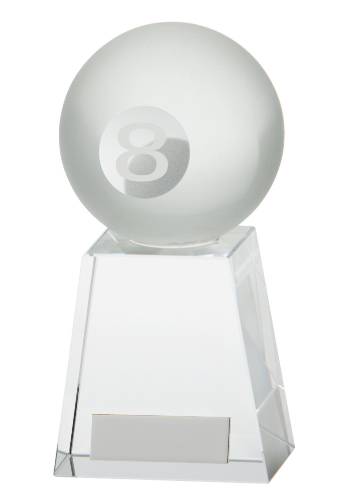 Crystal Voyager Pool 8 Ball Trophies