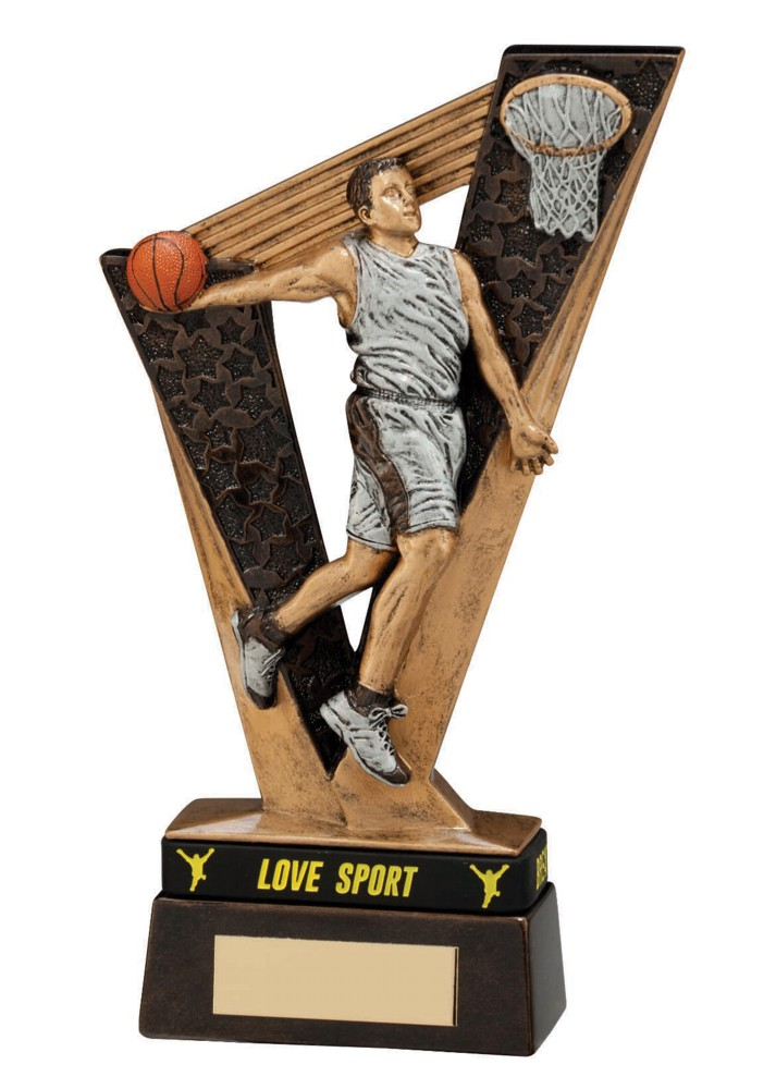 Resin Victory Basketball Figure Trophies