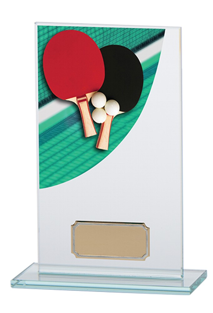 Table Tennis Premium Glass Plaques