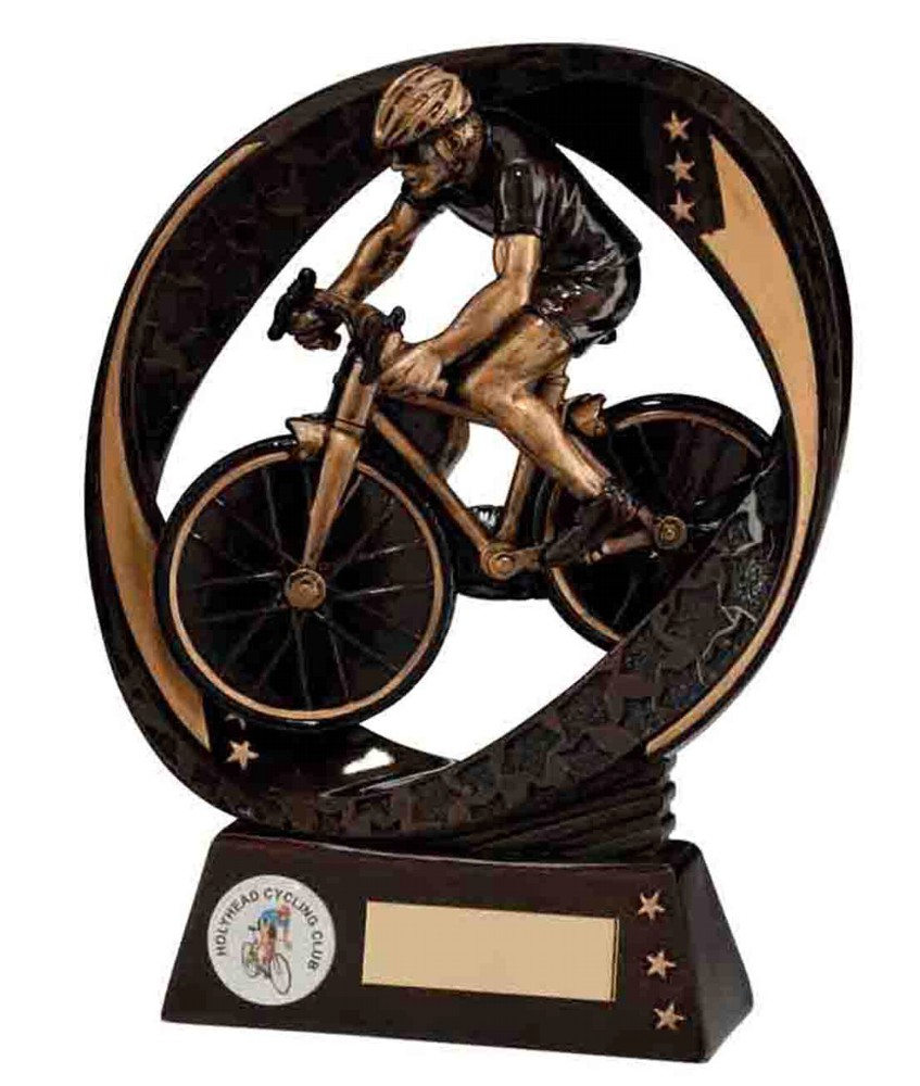Resin Typhoon Cycling Trophies