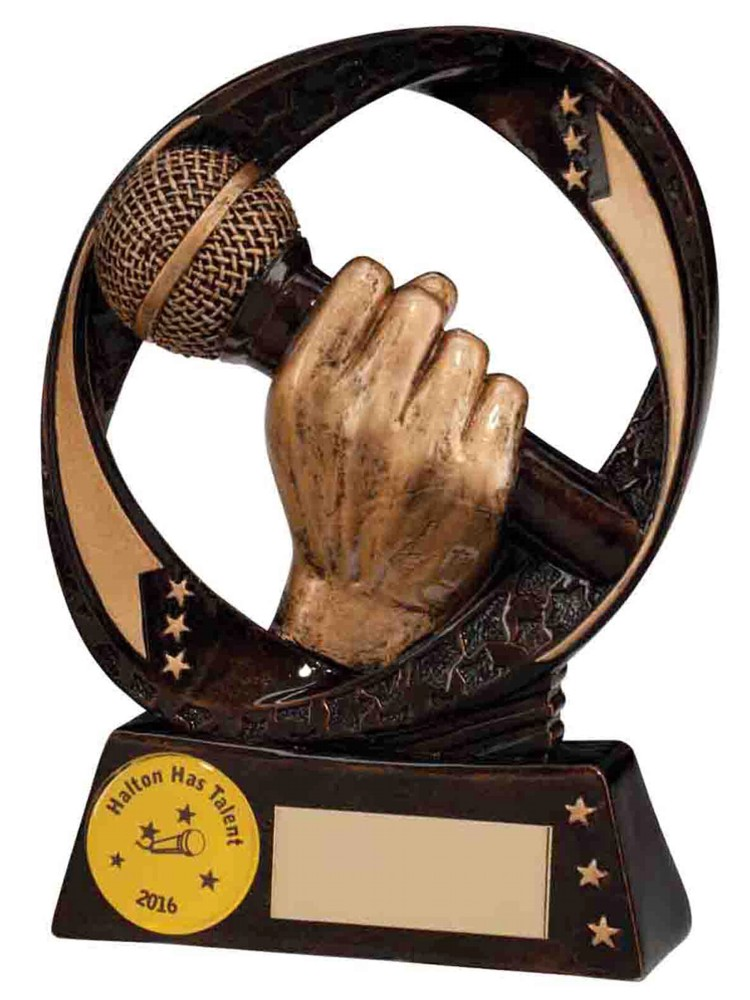 Resin Microphone Singing Trophies
