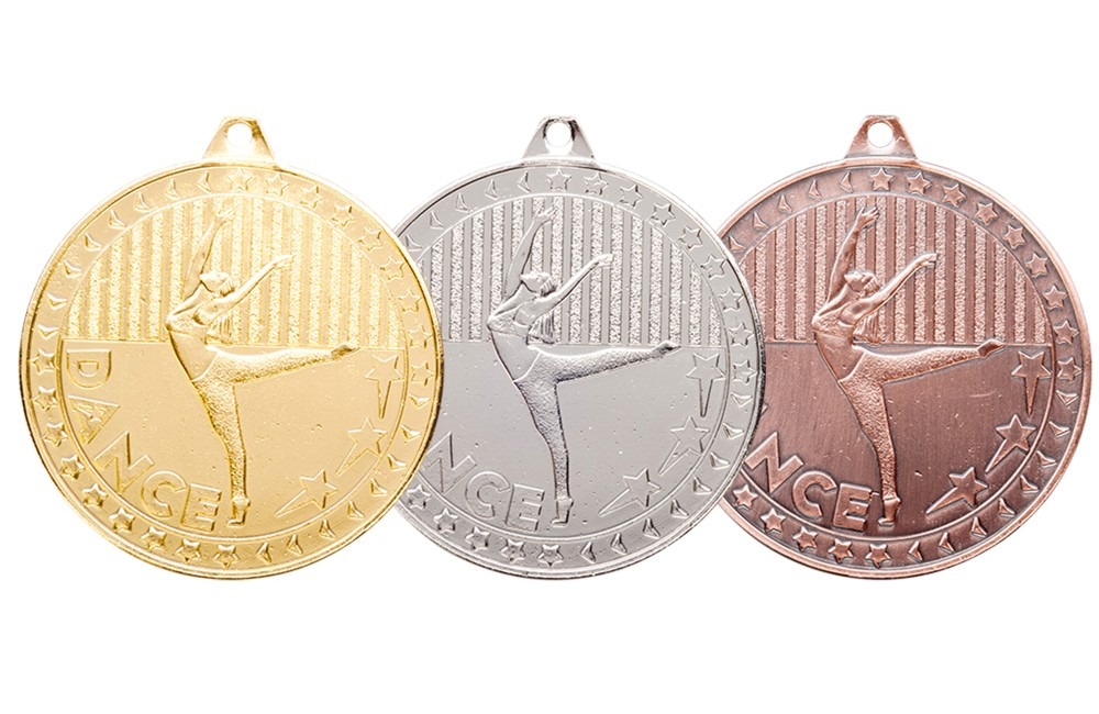 Special Price Moulded Dance Medal and Ribbon