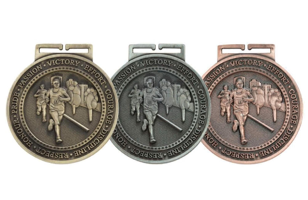 60mm Olympia Running Medal and Ribbon