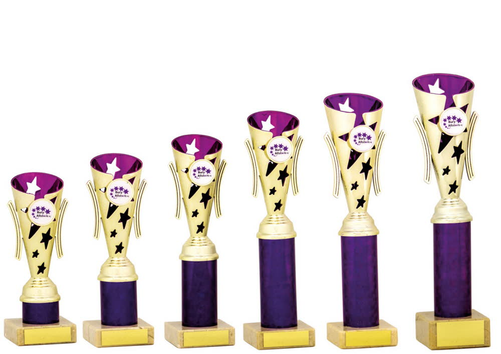 Gold and Purple Modern Star Cups