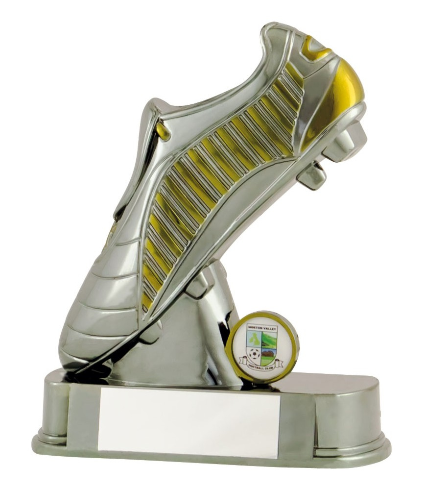 Gunmetal Football Boot Trophies