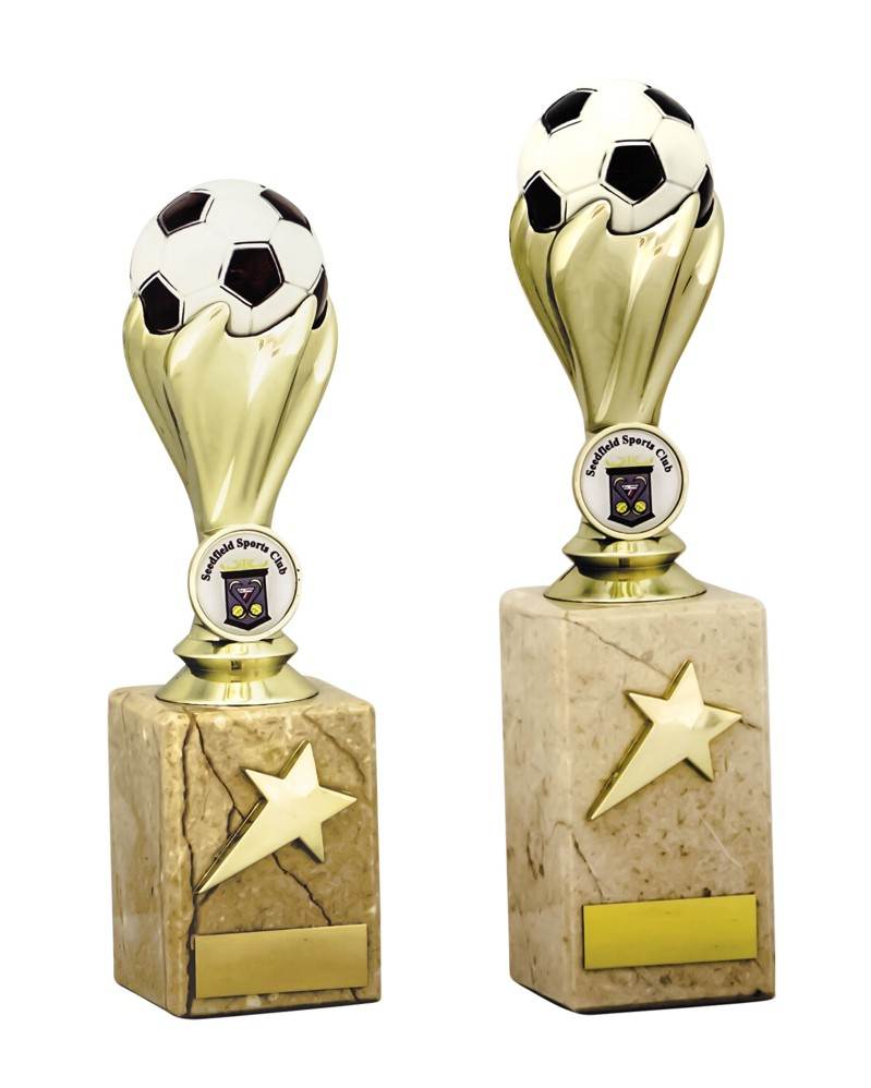 Gold Football Ball Trophies