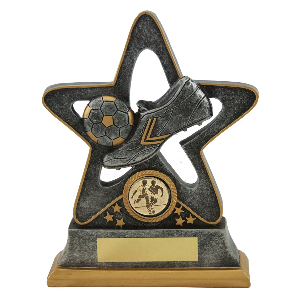 Silver Resin Star Football Trophies