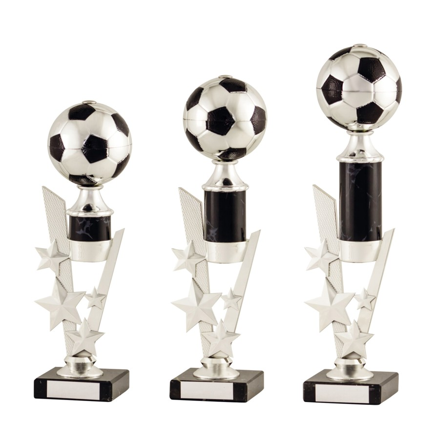 Silver/Black Football Ball Trophies