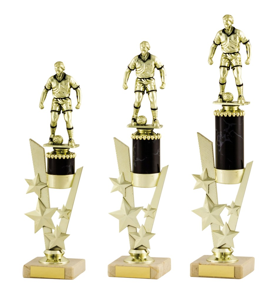 Gold/Black Football Figure Trophies