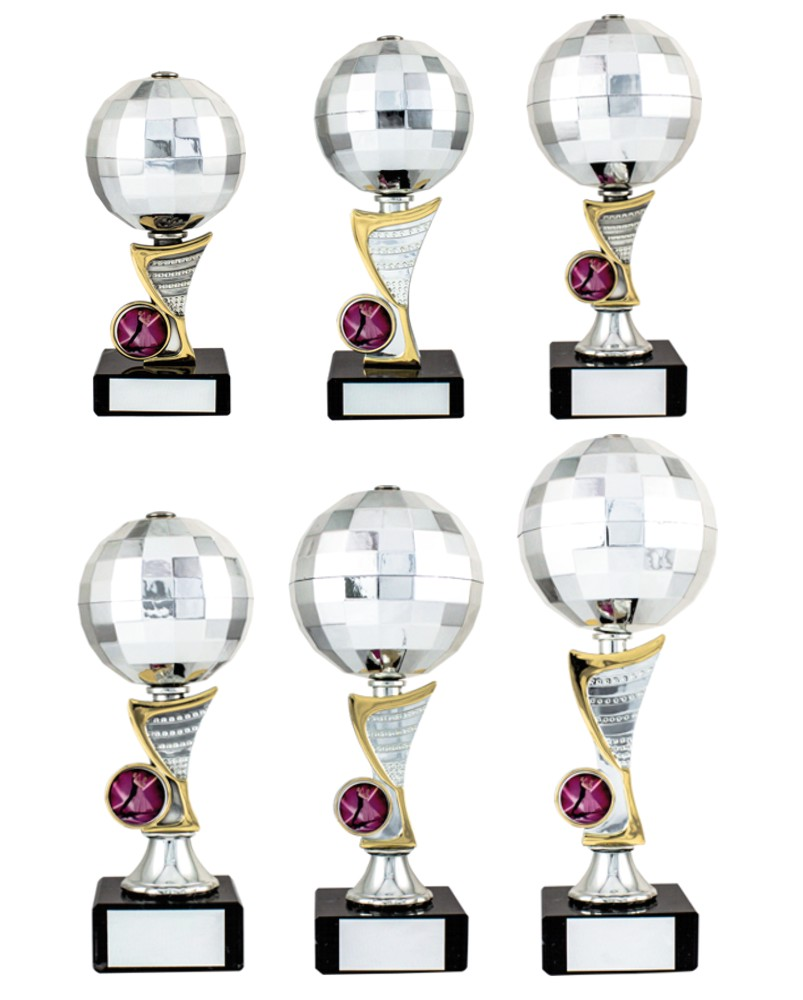 Silver Disco Ball Trophies