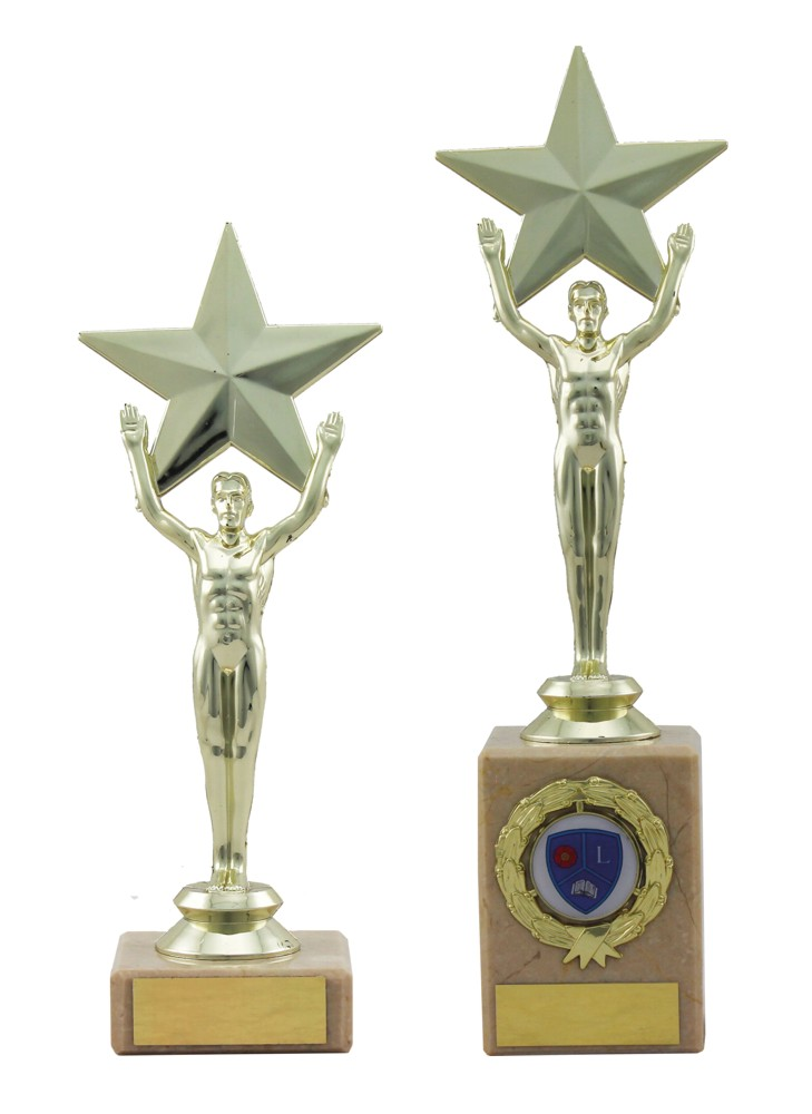 Male Achievement Star Trophies