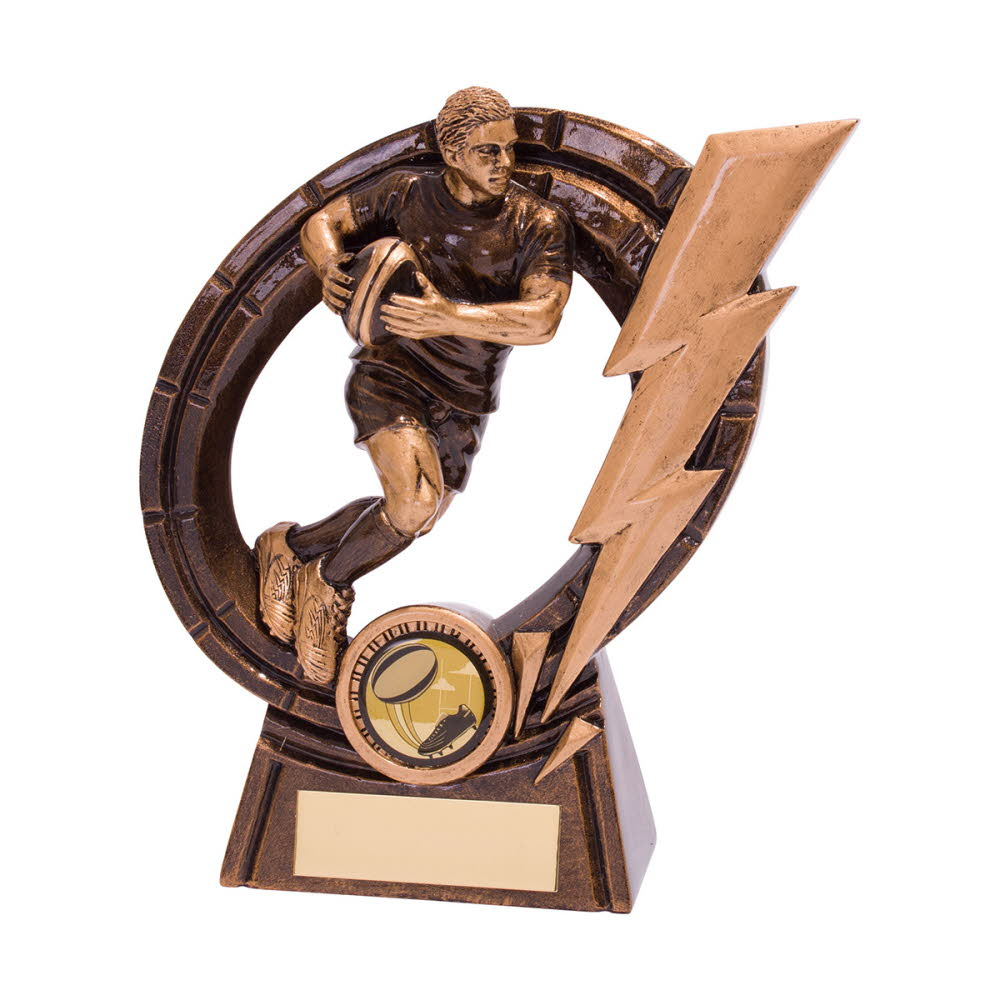 Thunderbolt Resin Rugby Player Trophies