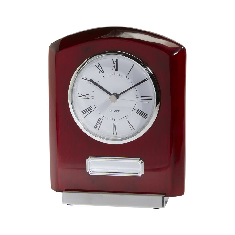 Idaho Engraved Crystal and Rosewood Clocks