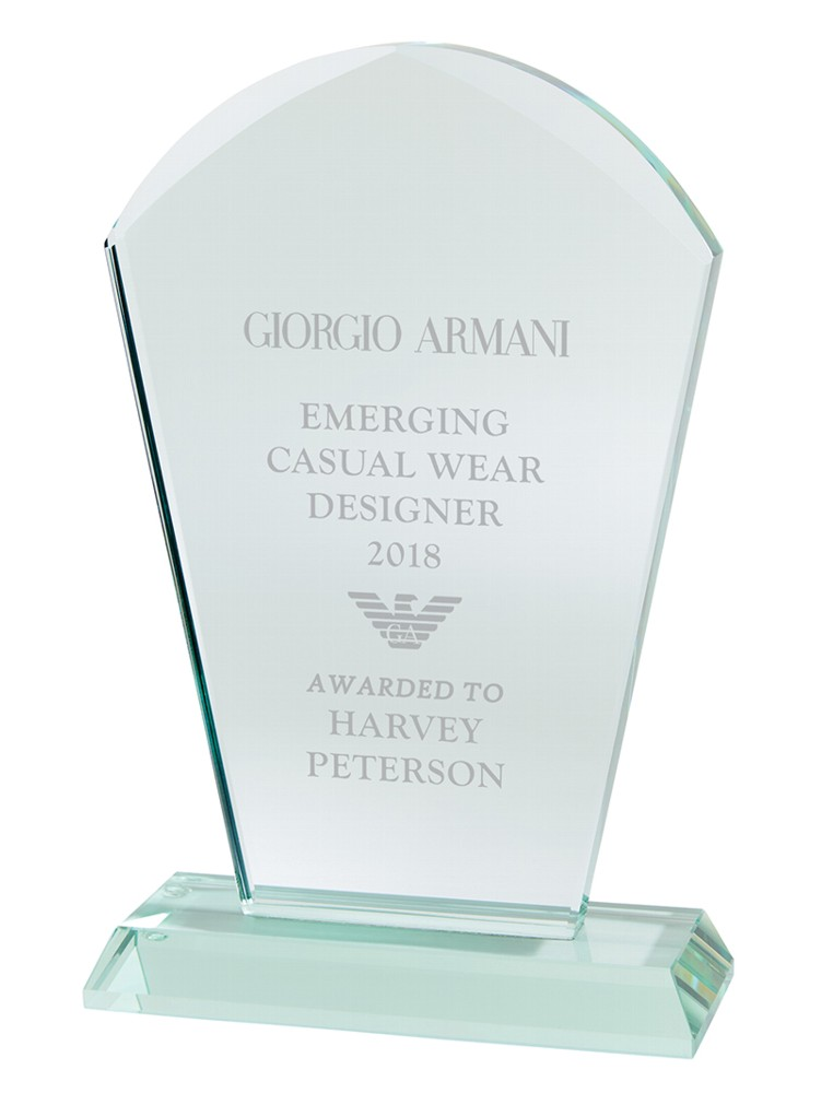 Engraved Premium Explorer Jade Crystal Awards