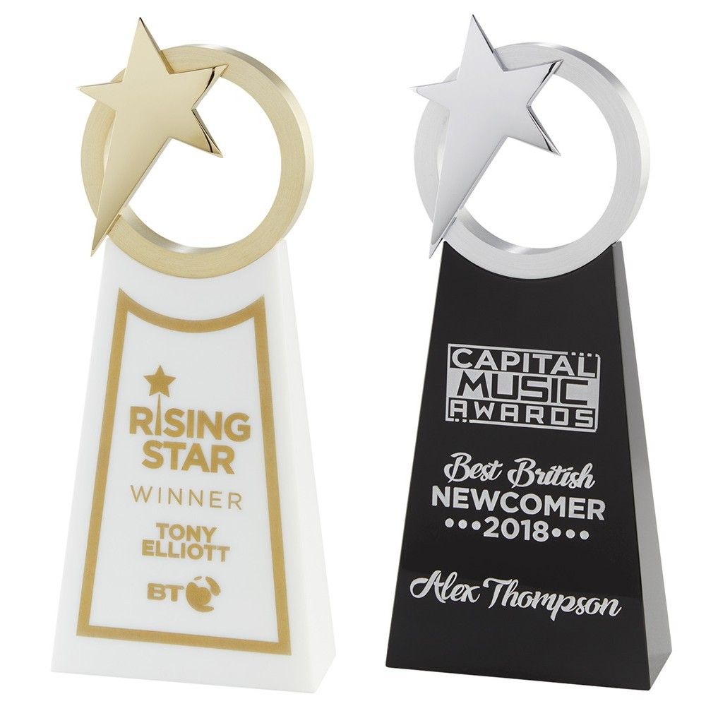 Rising Star Corporate Crystal Trophies