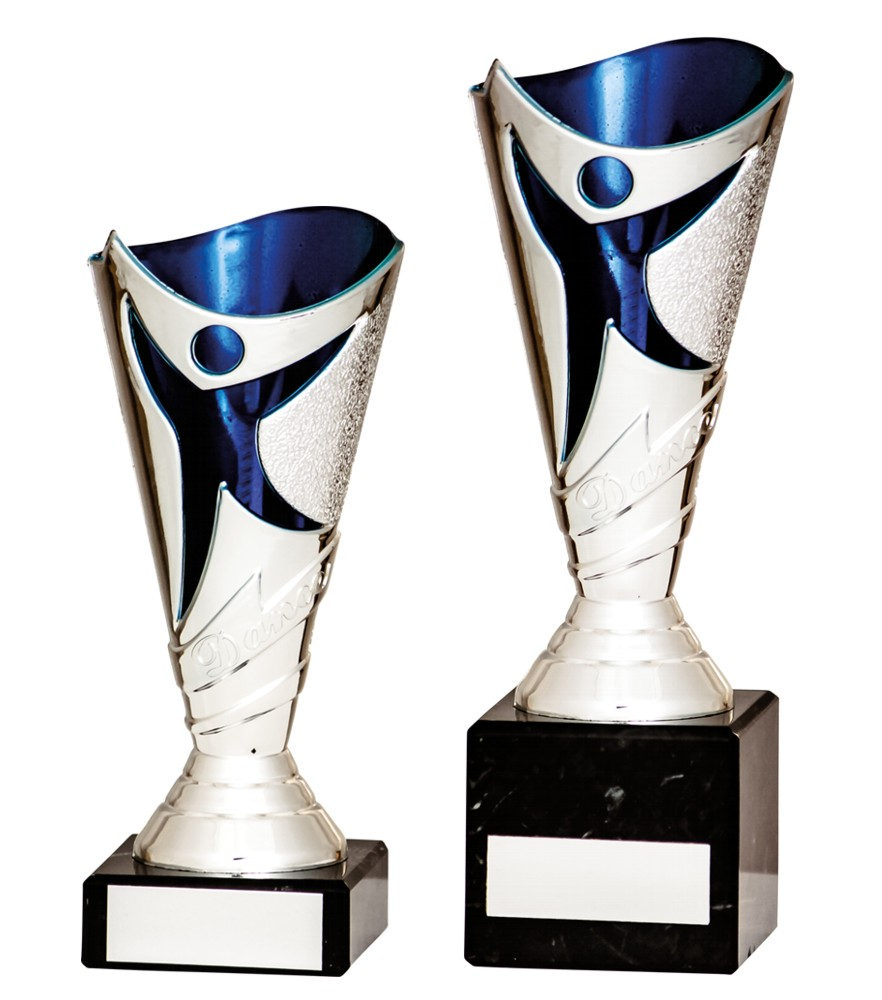 Silver/Blue Dance Trophies