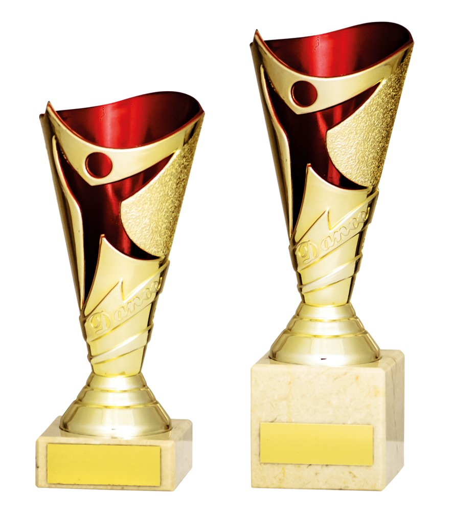 Gold/Red Dance Trophies