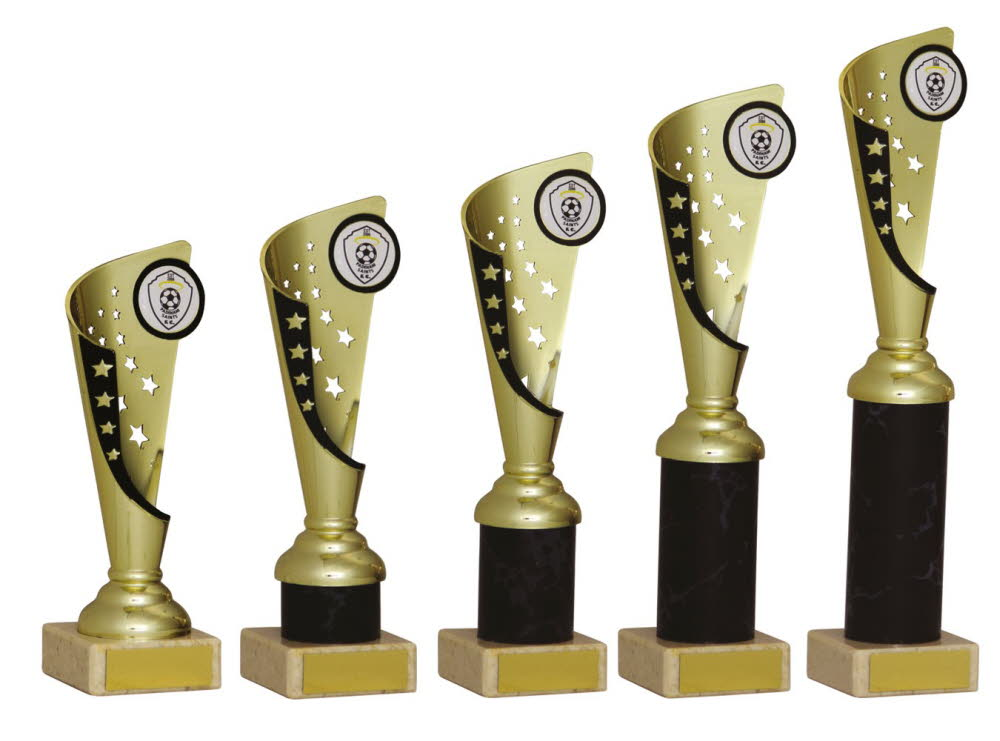Gold and Black Any Sport Trophies