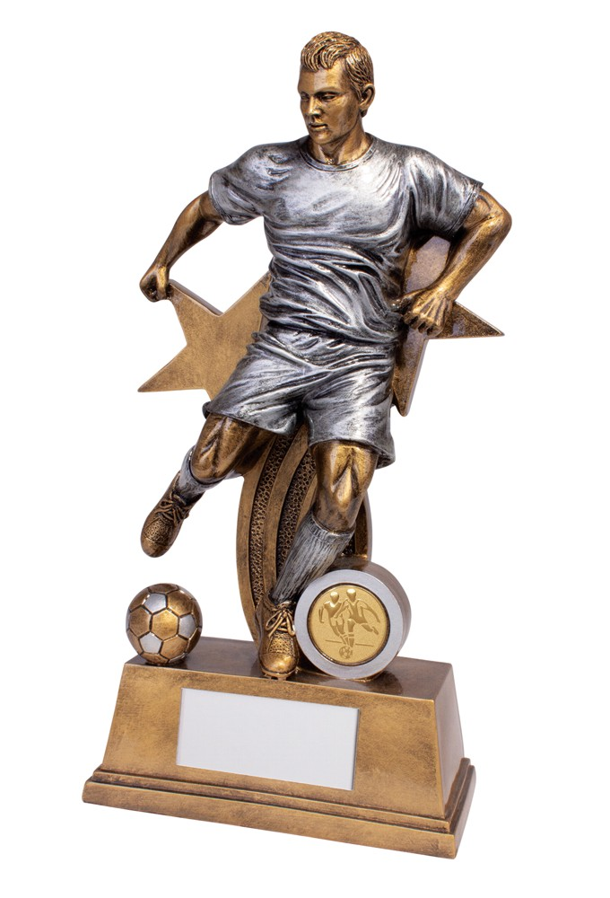 Resin Warrior Star Male Football Figure Trophies