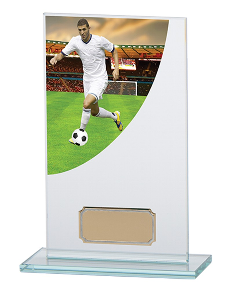 Football Player Premium Jade Glass Trophies