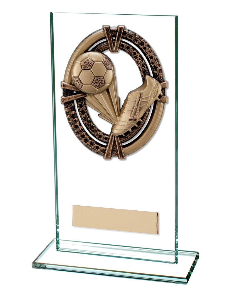 Maverick Football Boot Glass Trophies