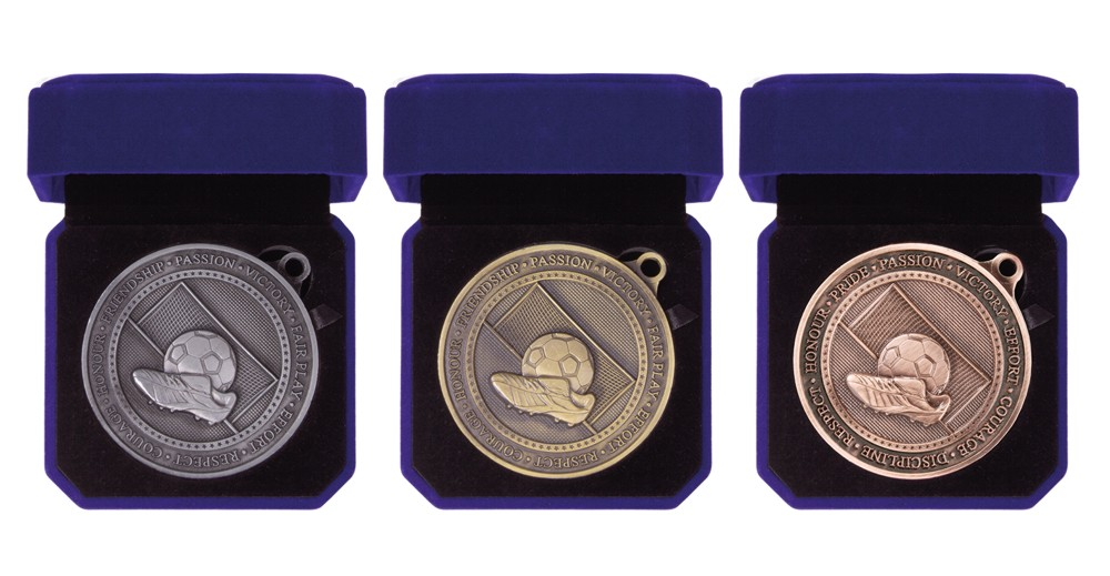 70mm Heavy Boxed Football Medals