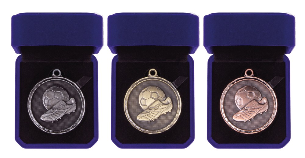 50mm Heavy Boxed Football Medals