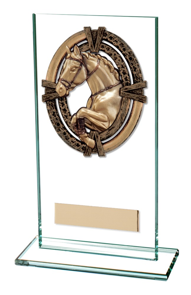 Maverick Legacy Horse/Equestrian Glass Trophies