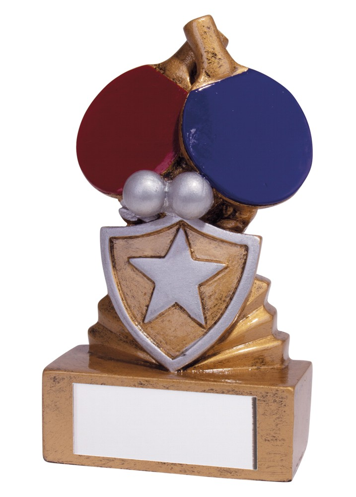 Resin Mini Shield Table Tennis Trophies