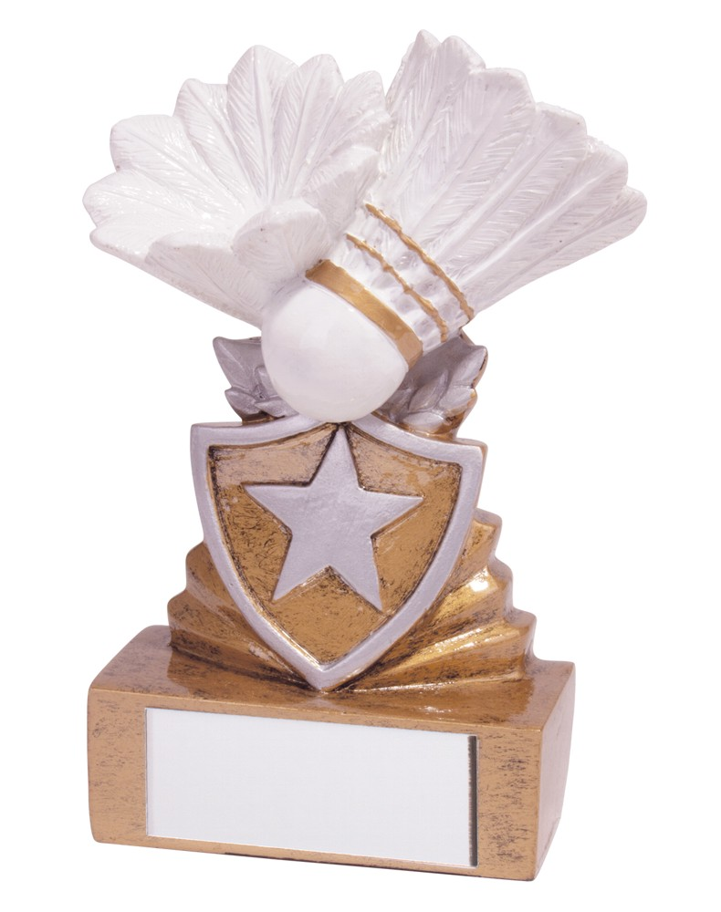 Resin Mini Shield Badminton Trophies