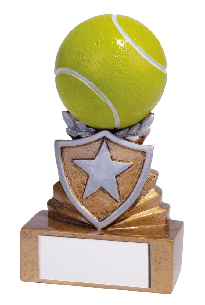 Resin Tennis Mini Shield Trophies