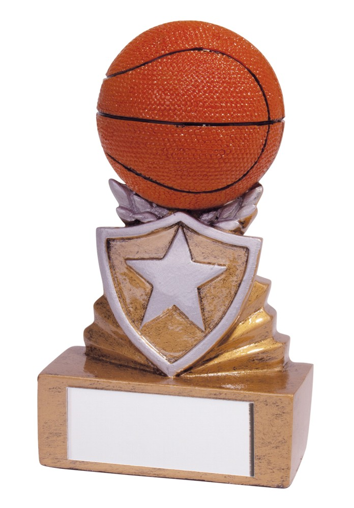 Resin Mini Shield Basketball Trophies
