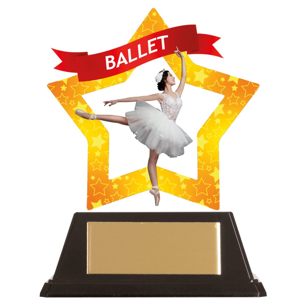 Acrylic Star Ballet Trophies