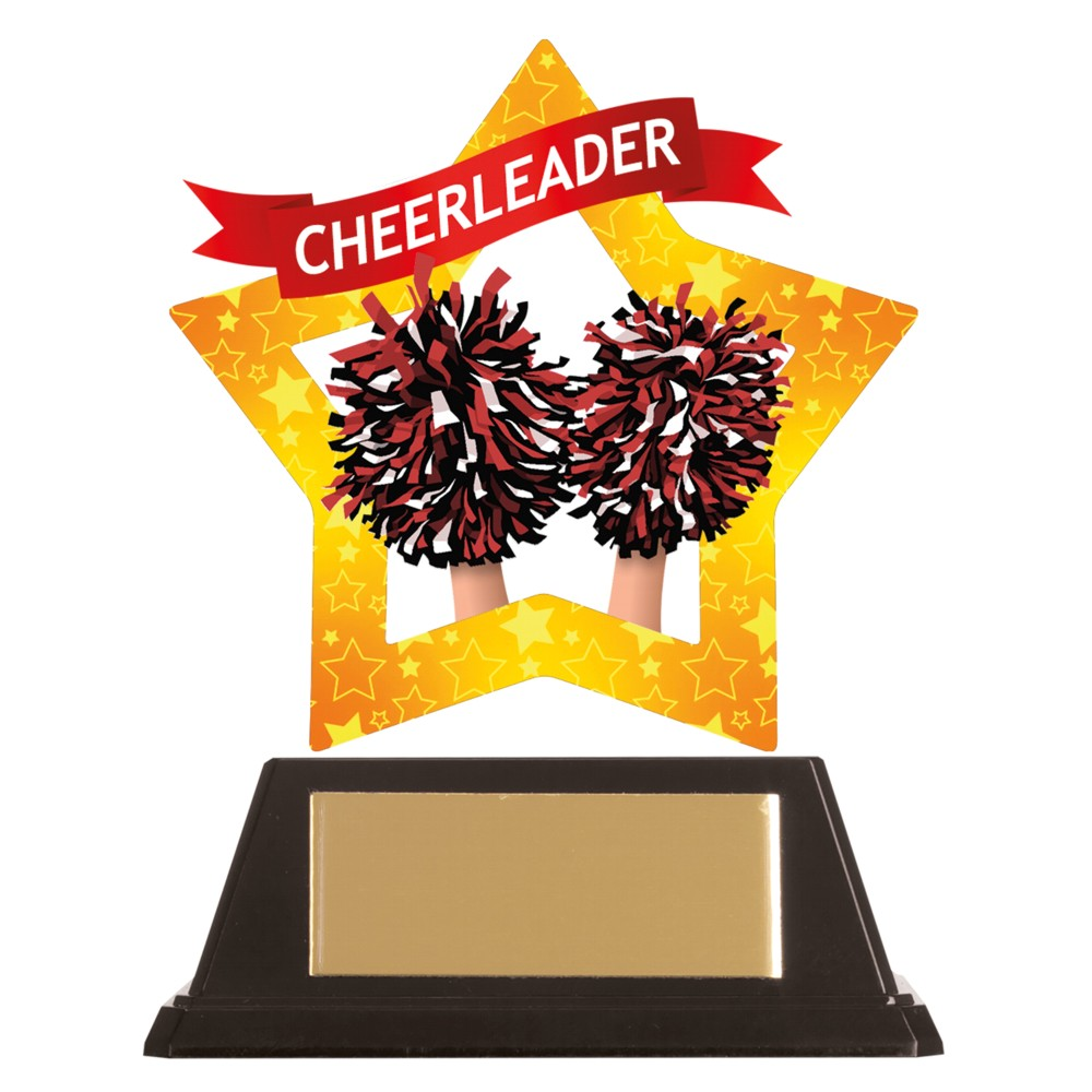 Acrylic Star Cheerleading Trophies