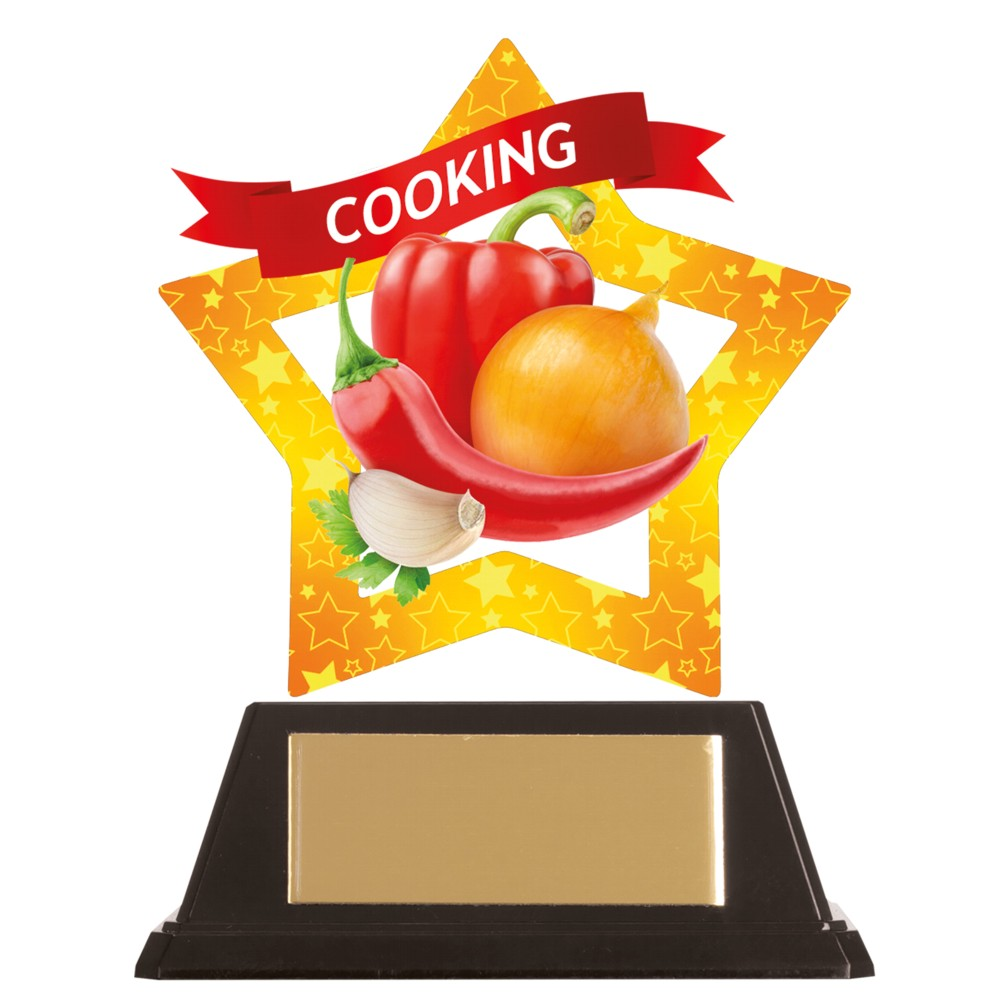 Acrylic Star Cooking Trophies