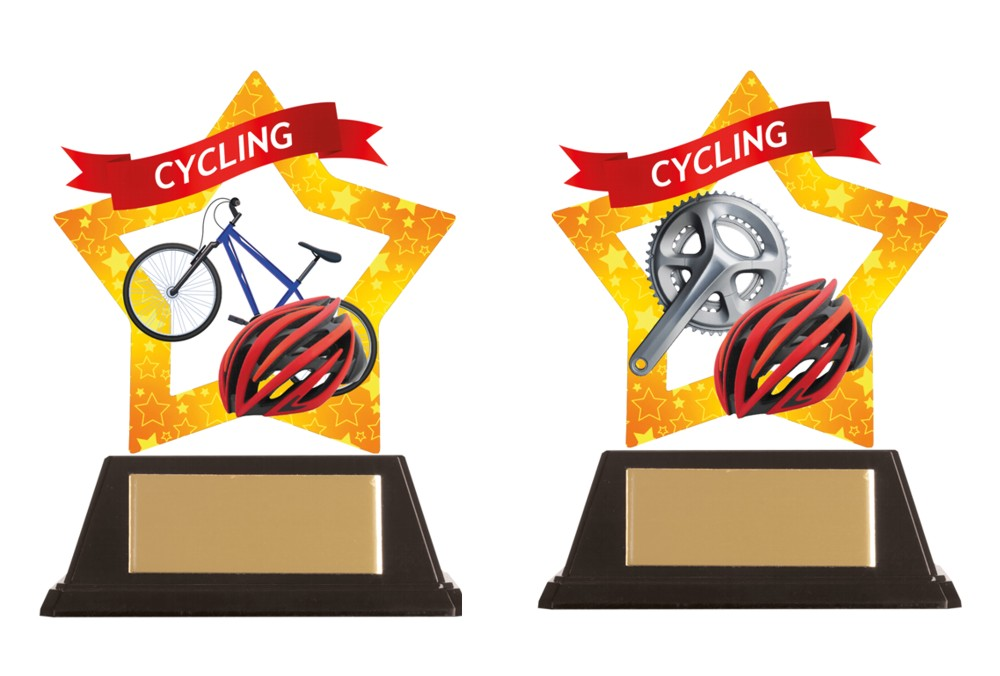 Acrylic Star Cycling Trophies