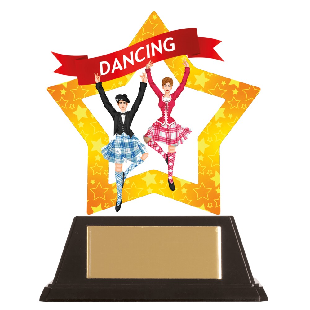 Acrylic Star Highland Dancing Trophies