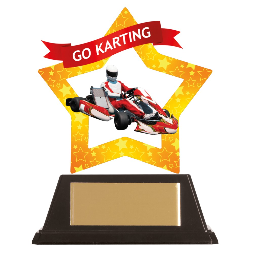 Acrylic Star Go-Karting Trophies