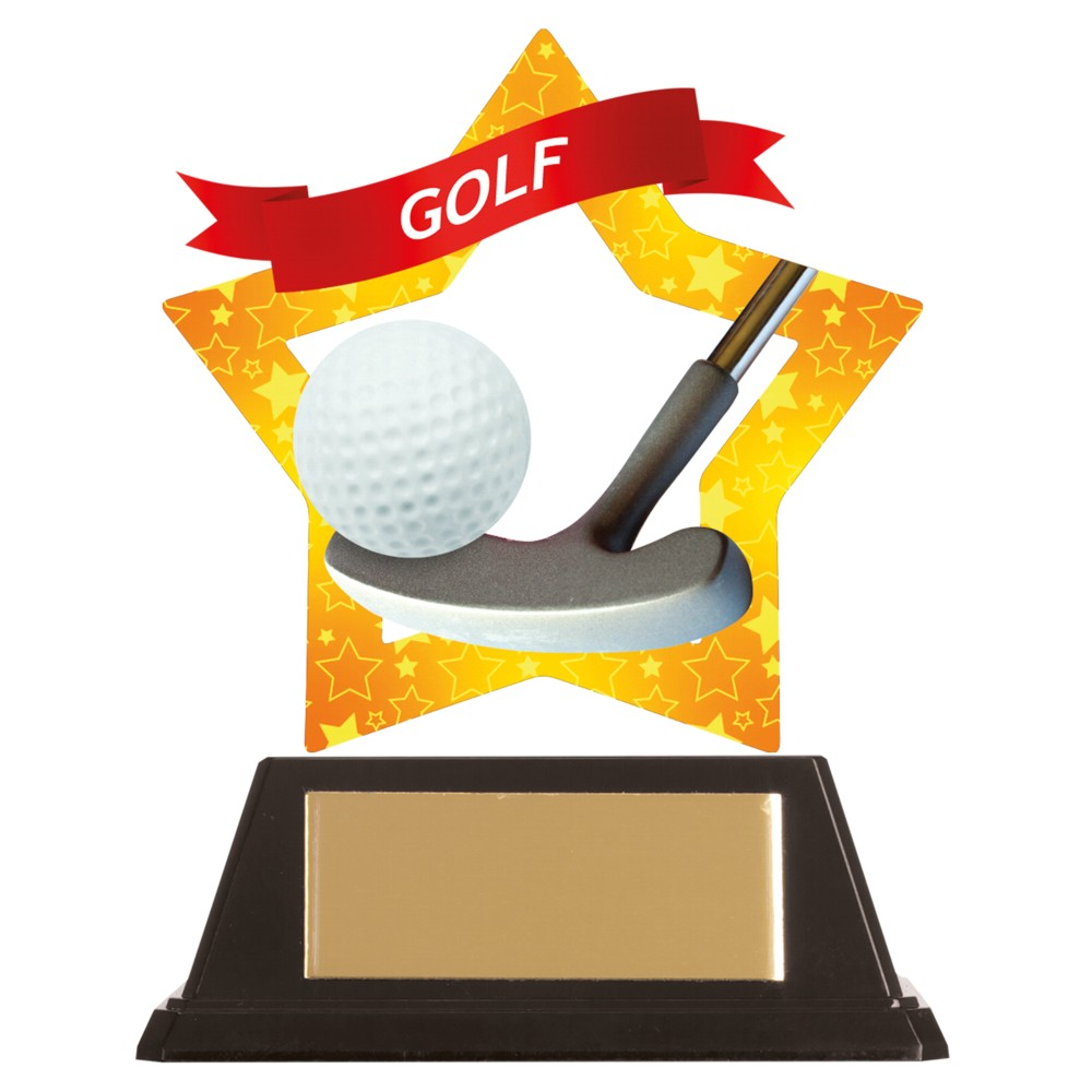 Acrylic Star Golf Trophies