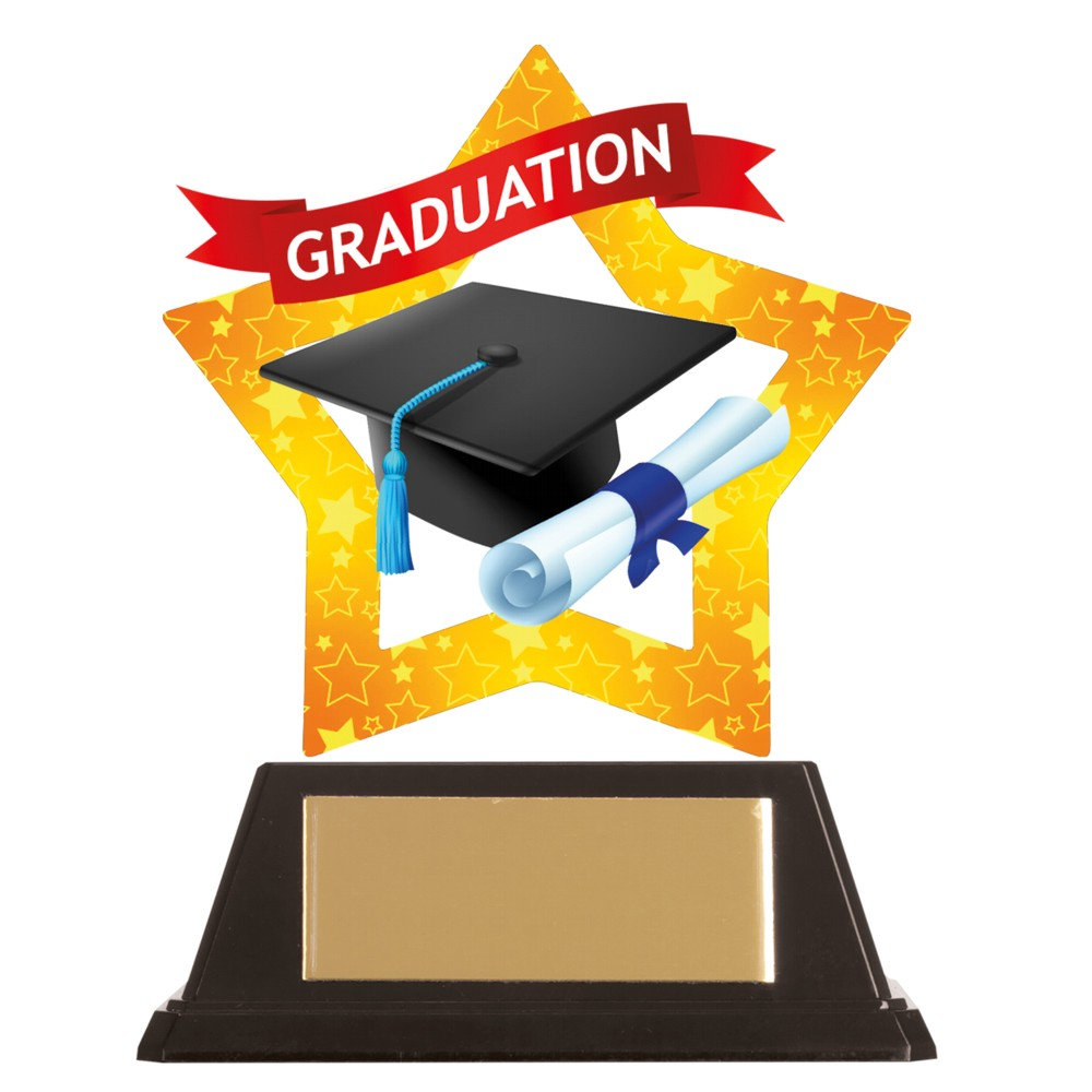 Acrylic Star Graduation Trophies