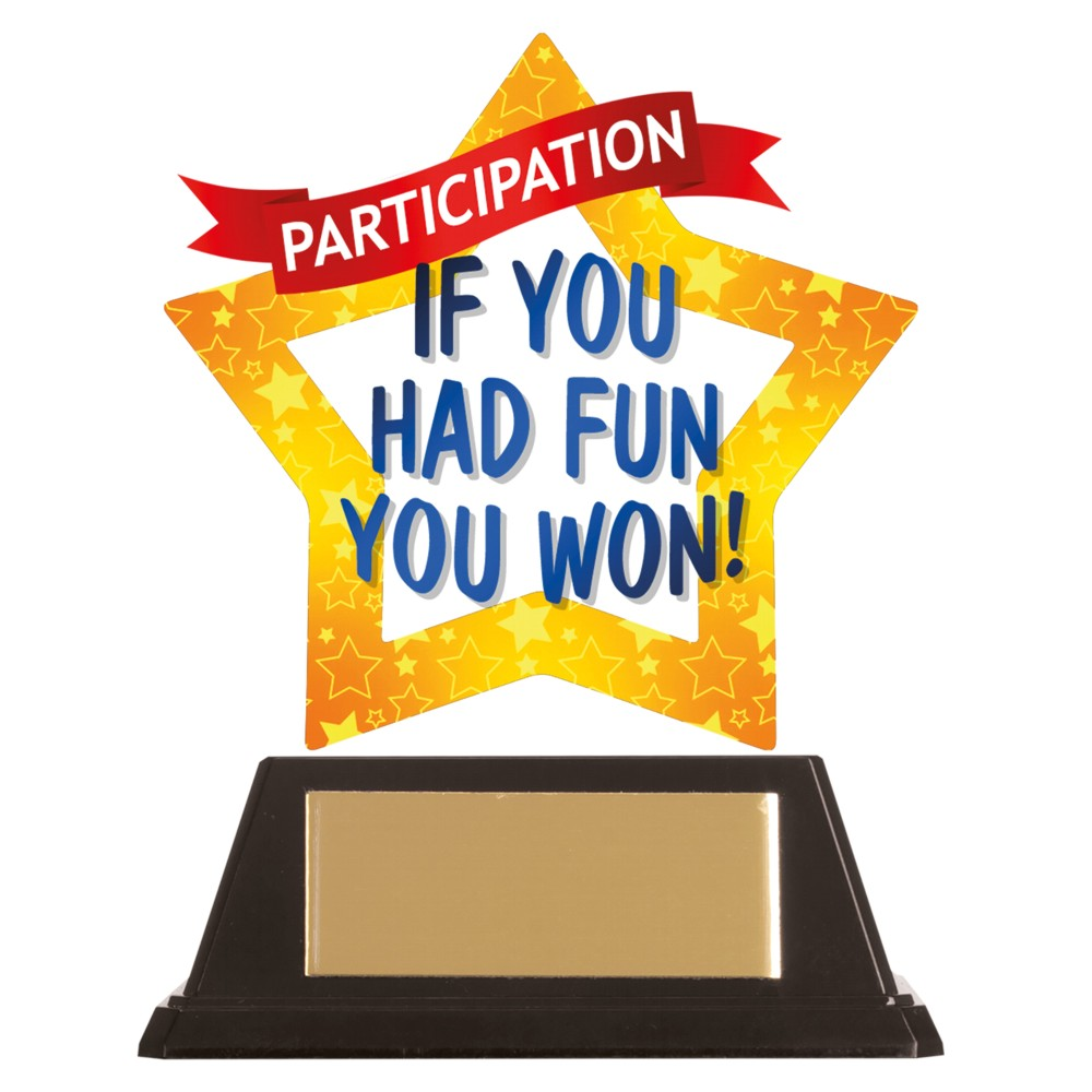 Acrylic Star Participation Trophies
