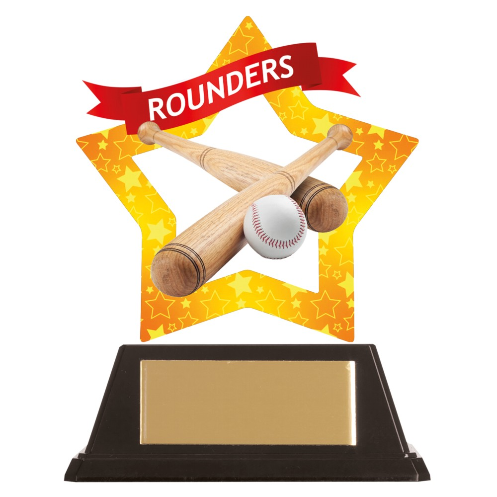 Acrylic Star Rounders Trophies