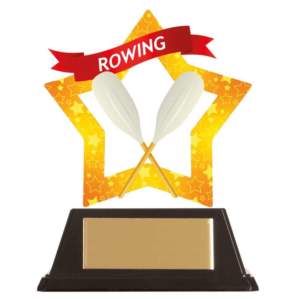 Acrylic Star Rowing Trophies