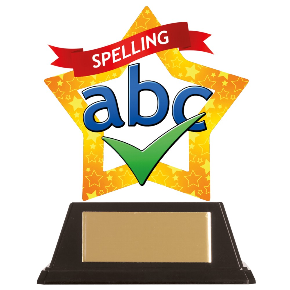 Acrylic Star Spelling Trophies