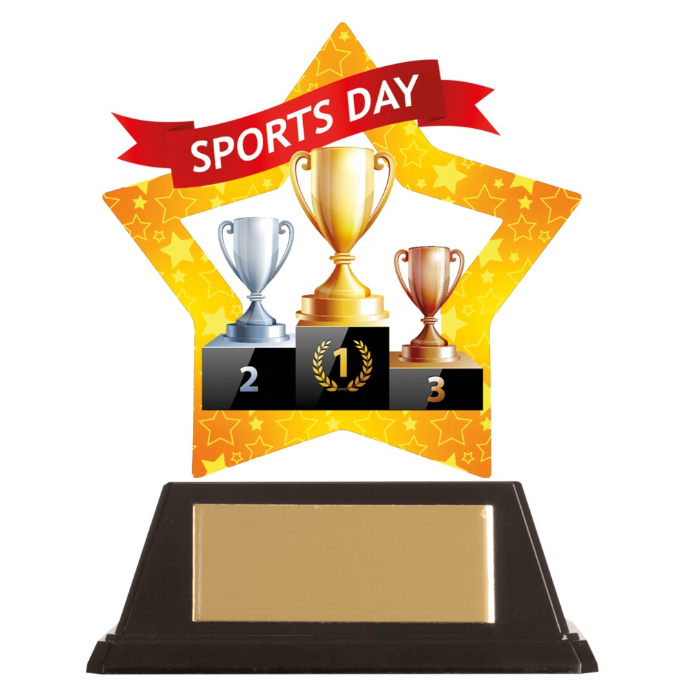 Acrylic Star Sports Day Trophies