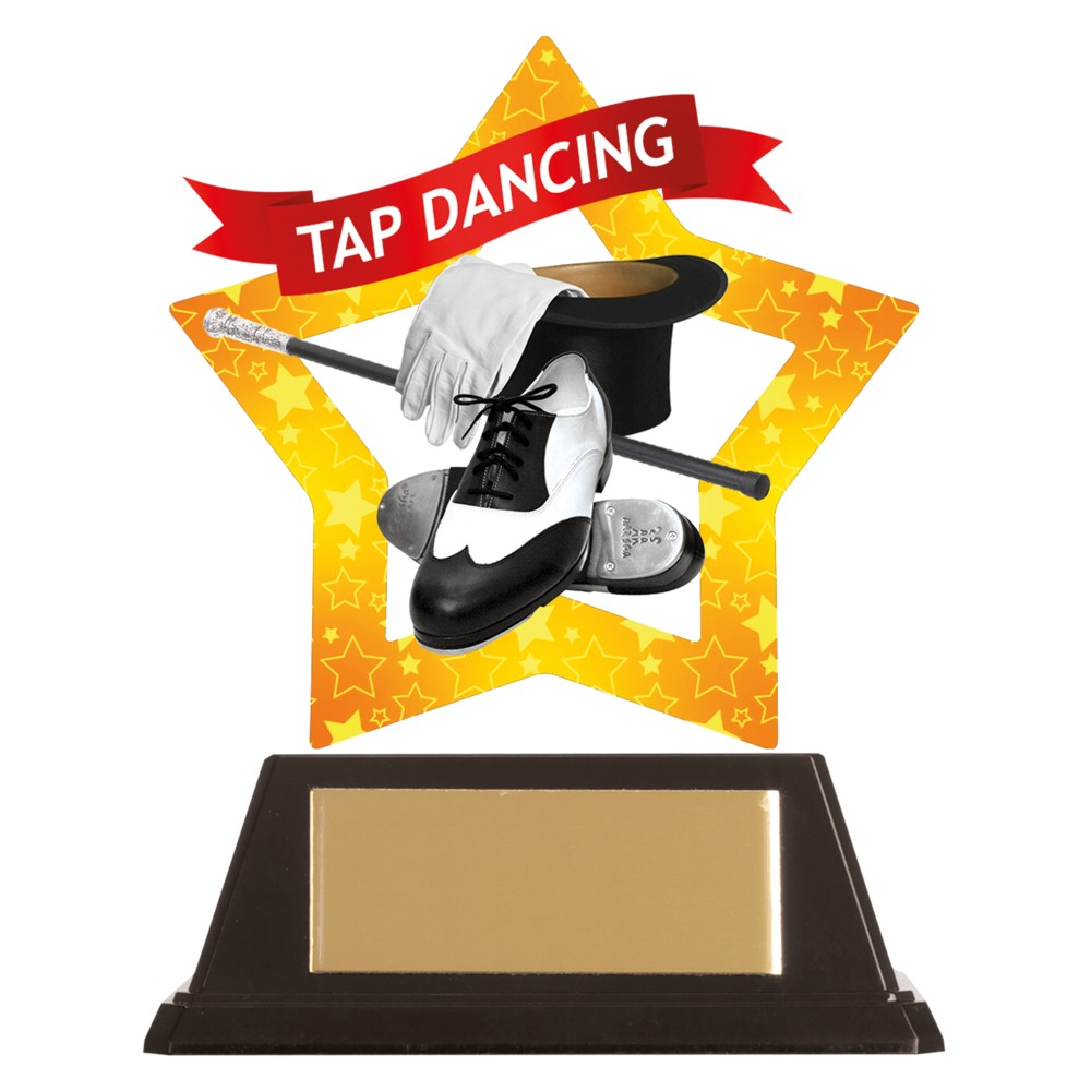 Acrylic Star Tap Dancing Trophies