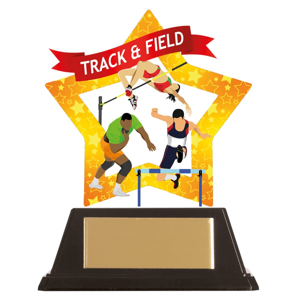 Acrylic Star Athletics Track and Field Trophies
