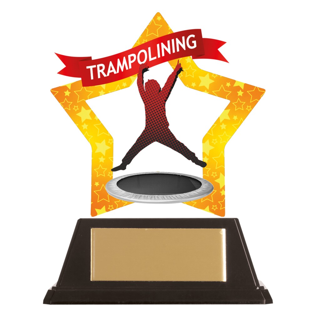 Acrylic Star Trampolining Trophies
