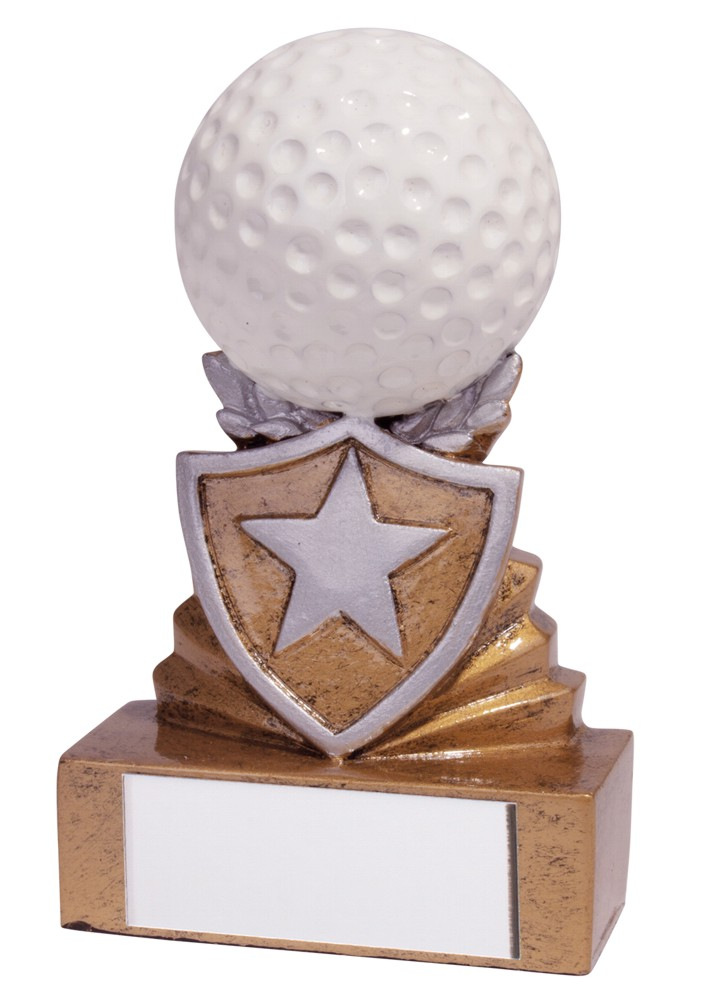 Resin Mini Shield Golf Trophies