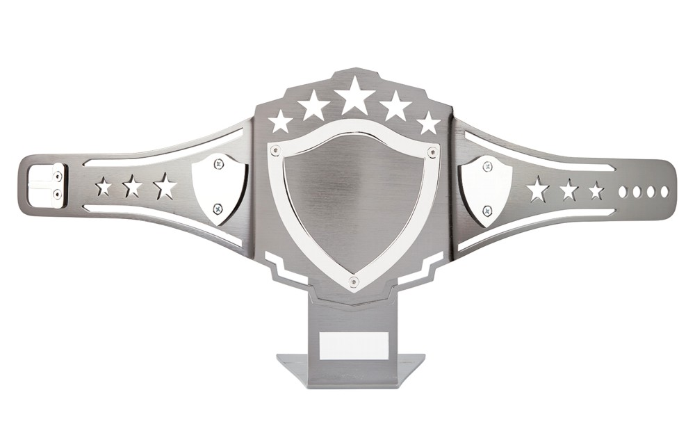 Nickel Plated Champion Belt Trophies